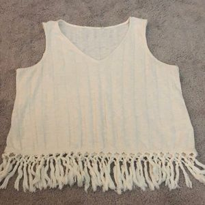 Anthropologie Beachcomber Fringed Tank